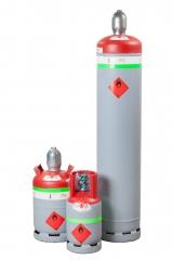Entsorgungsflasche für brennbare Kältemittel